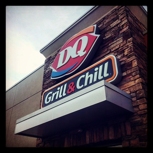 We stopped at DQ for Blizzards after stopping at the grocery. You can't beat a Blizzard. YUM!