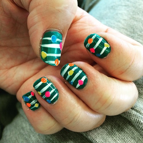 I'm waiting forever at the bank so I'll show you my #nailart #Missjenfabulous