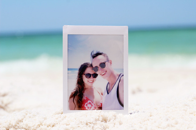 beach polaroid
