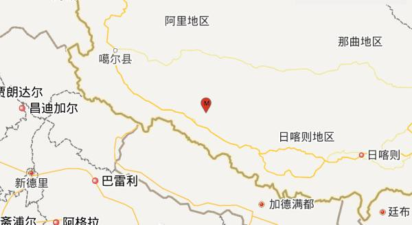 Tibet Shigatse level 5 earthquake hit Zhongba County, the focal depth of 8 kilometers