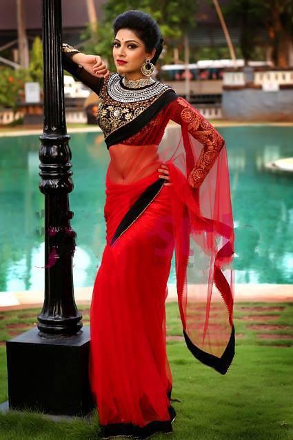 Avanthika Mohan Hot Navel Saree Malayalam Actress -1903