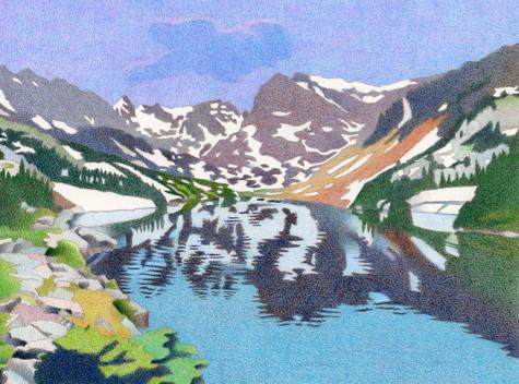 Lake Isabelle. Artist Dan Miller