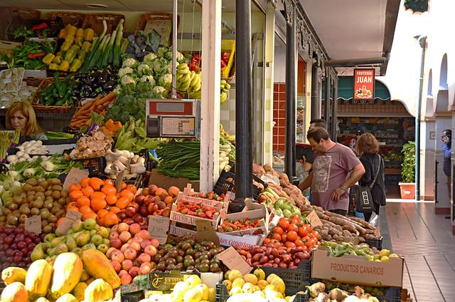 Veg stall, La Recova, Mercado Nuestra Señora de Africa, Santa Cruz, Tenerife