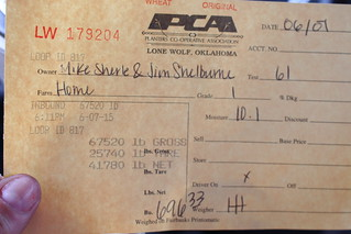 Scale ticket from Lone Wolf.