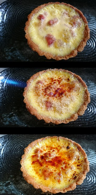 Rhubarb Brûlée Tartlettes with Ginger