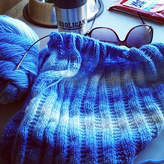 Spent about a friggin hour getting tangles out of this Acacia Sweet Dreams Baby #yarn at the #racetrack! If the blanket wasn't half finished I would have thrown the whole damn thing in the trash! Tell me again how I #knit so I don't bleeping kill people :