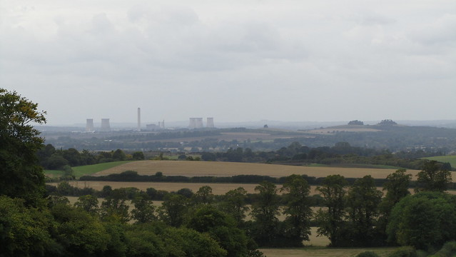 Didcot Power Station and Wittenham Clumps