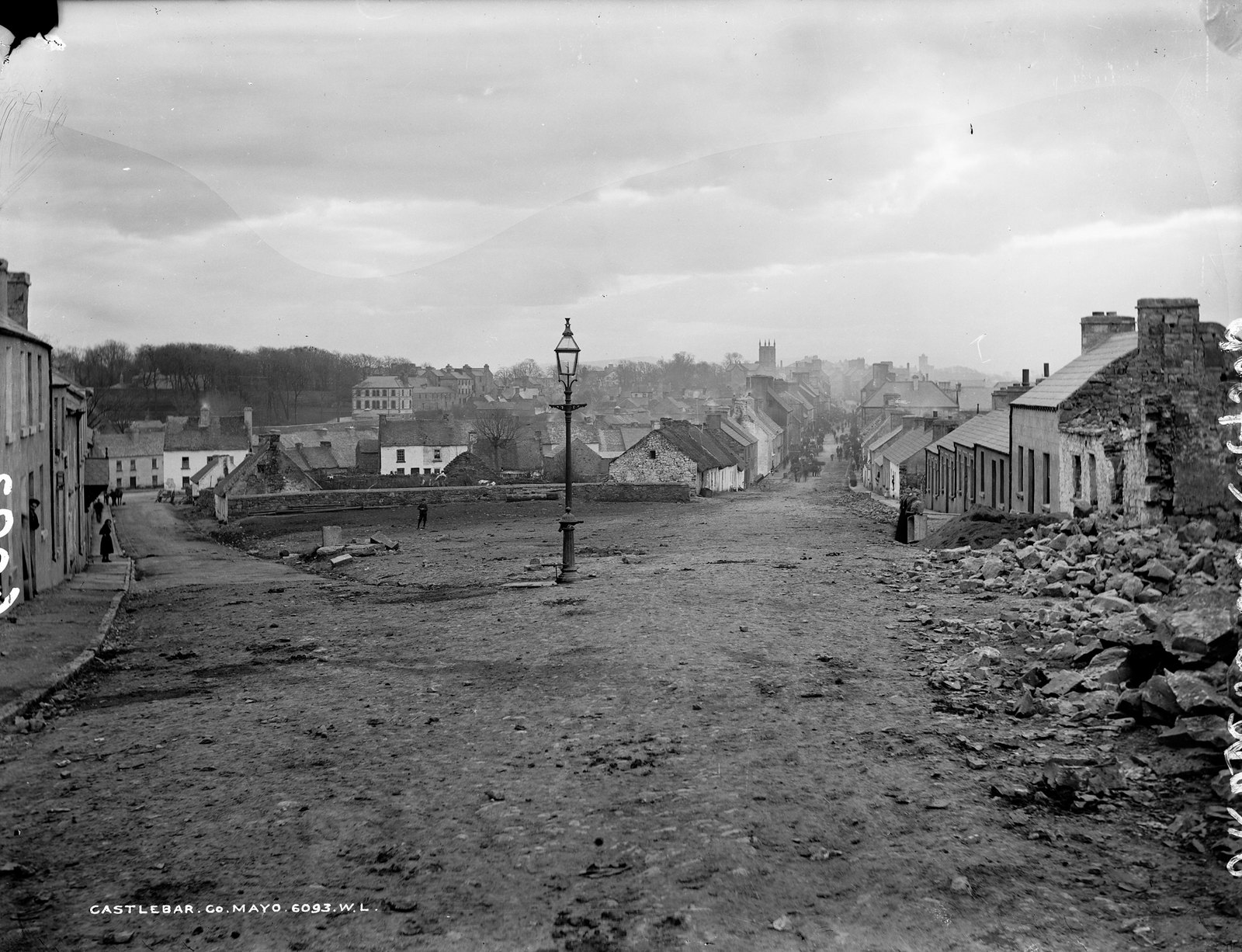 Rebuilding Castlebar, Co. Mayo | by National Library of Ireland on The Commons
