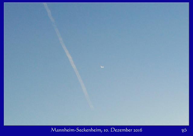 Mannheim-Seckenheim ... vergebliche Suche nach der Raumstation ISS ... 10. Dezember 2016 ... Himmel über Mannheim-Seckenheim ... Foto: Brigitte Stolle