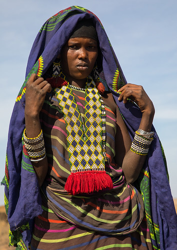 Portrait of an Issa tribe woman with a beaded necklace, Afar region, Yangudi Rassa National Park, Ethiopia | by Eric Lafforgue