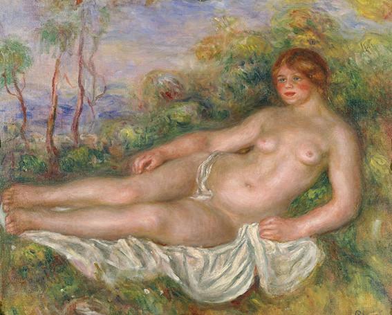 ルノワール《横たわる浴女》(1906年、国立西洋美術館蔵)