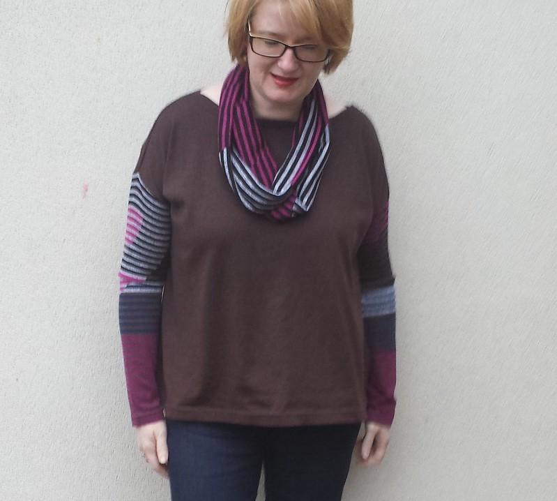Tessuti Mandy tee and coordinating infinity scarf