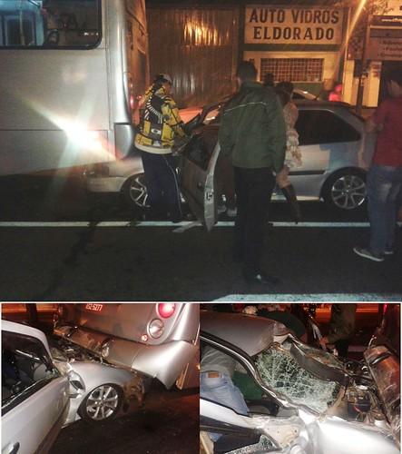acidente carro x ônibus