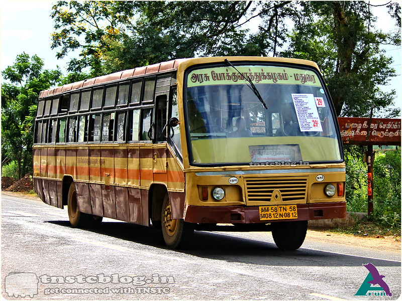 TN-58N-0812 of Madurai City Branch MCB Route 29C Periyar - Samayanallur.