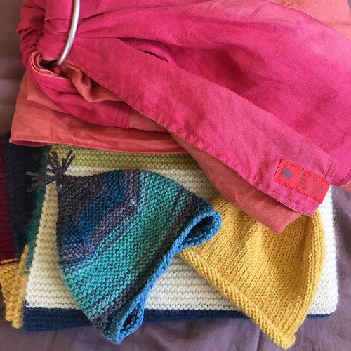 Knitted gifts & a ring sling
