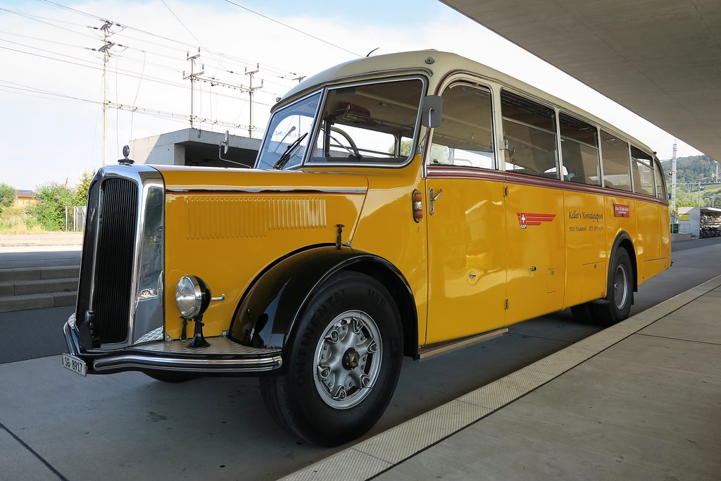 Compressed Air Car >> Postauto Saurer L4C 1958 | The specialty of this classic ...