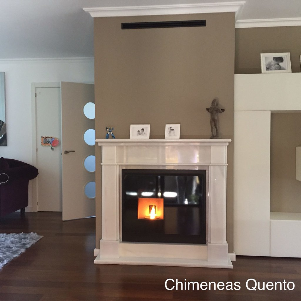 chimenea quento modelo ledin con insert de pellet rika int flickr. Black Bedroom Furniture Sets. Home Design Ideas