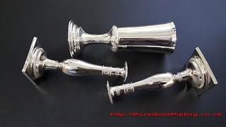Silver Plated Candle Sticks and Goblet | by PureGoldPlating