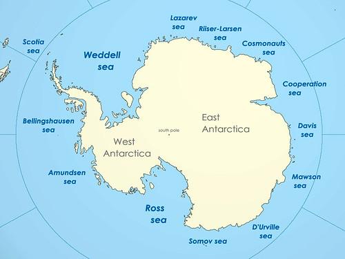 रॉस सागर मानचित्र