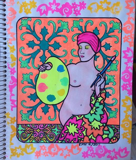 Prismacolor pencil/art marker/ink, 2011.