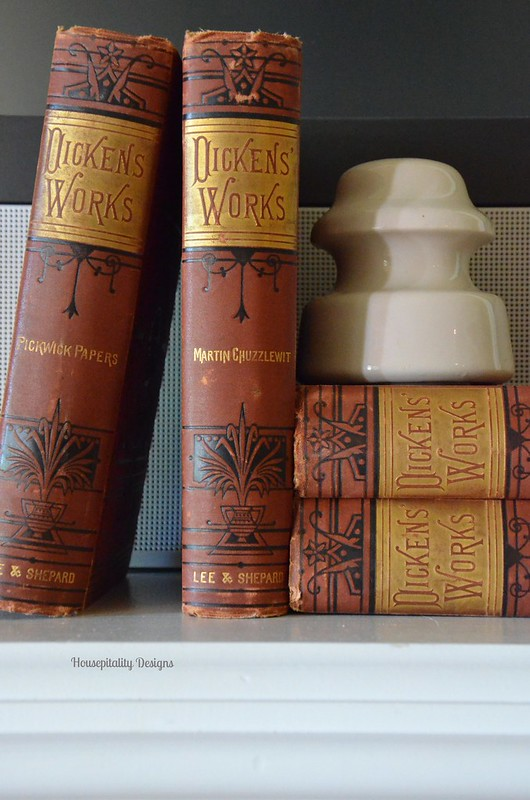 Vintage Dickens Books/Insulator-Housepitality Designs