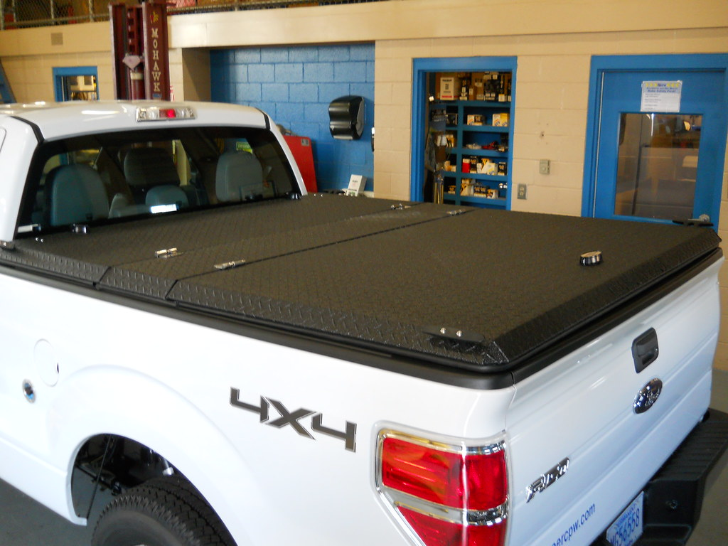 F 150 Truck Bed Covers >> Custom Truck Bed Cover on CNG Public Works Pickup | A custom… | Flickr