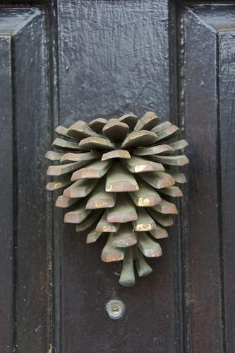 Fir cone door knocker wentworth street charleston sc flickr - Pine cone door knocker ...