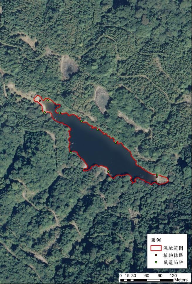 溪南鬼湖航照圖。資料來源:邱郁文。