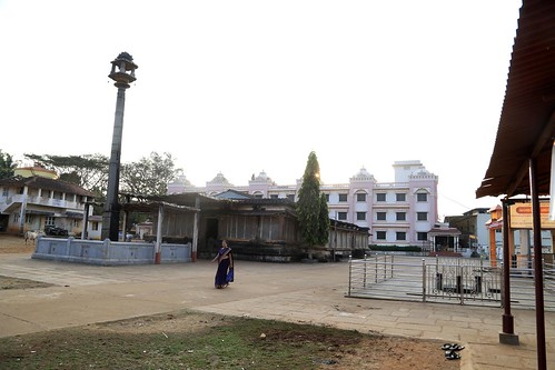 Trivikrama Shrine in the backdrop of Rajadhama place of stay
