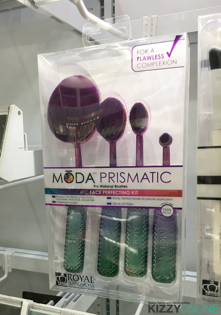 Royal and Langnickel Moda Prismatic Duo chrome Metallic Makeup Brushes Walmart