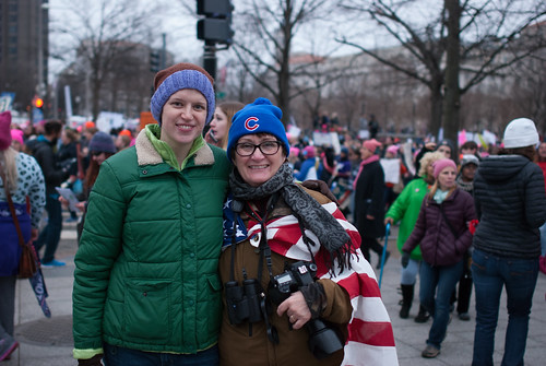 Laura and Katie at the Women's March in D.C.
