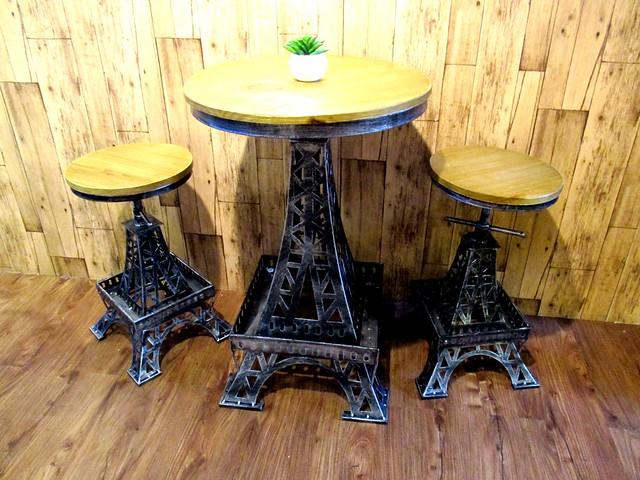 Lolibee Eiffel Tower table & stools