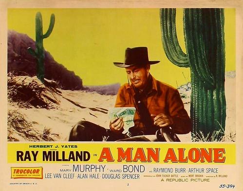 A Man Alone - lobbycard 1