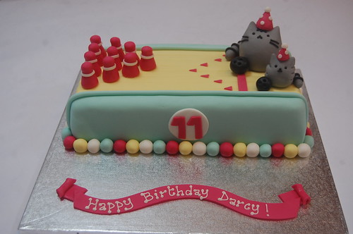 Pusheen And Stormy Bowling Cake Beautiful Birthday Cakes