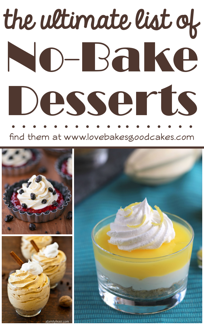 The ULTIMATE list of No-Bake Desserts collage.