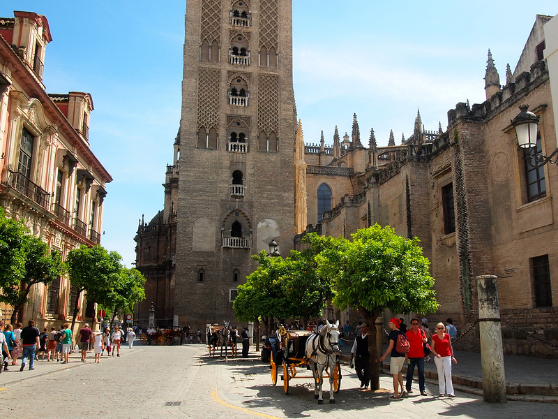 At the back of Seville Cathedral