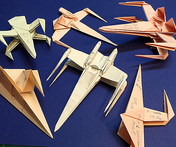 folding guide parts of the xwing fighter origami high gra