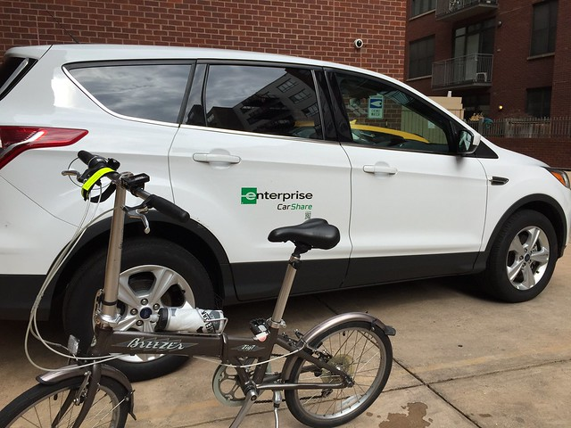 Foldy bike and Enterprise CarShare