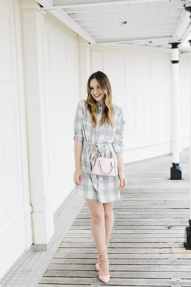 River Island Gingham Dress Lace Up Free People Heels