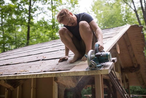 Tyler Sawing Roof Decking | by goingslowly