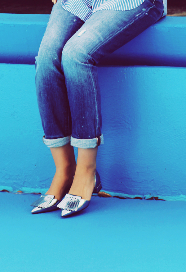 Madewell Jeans, Tory Burch Shoes
