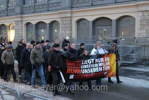 Neonaziaufmarsch in Dresden