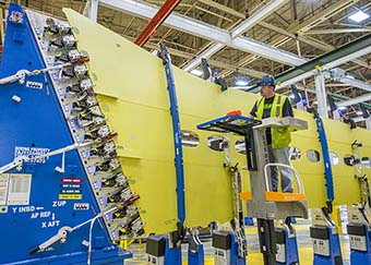 737 MAX Production Work at Renton
