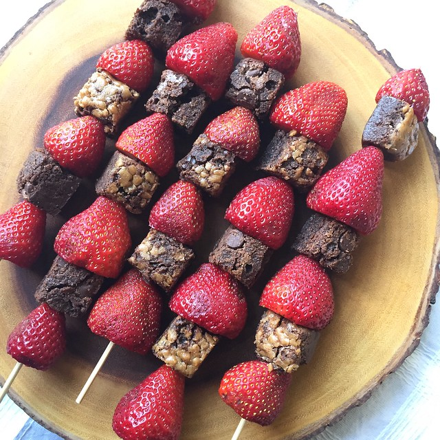 Mrs. Fields Secrets Fruit and Brownie Kabob