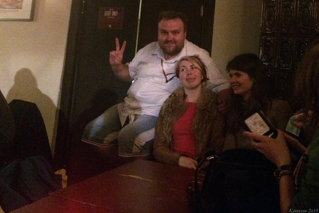 St_martin, Terry and stacie_by in Beer House, Krakow, Poland