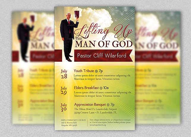 Pastor Appreciation Church Flyer Template