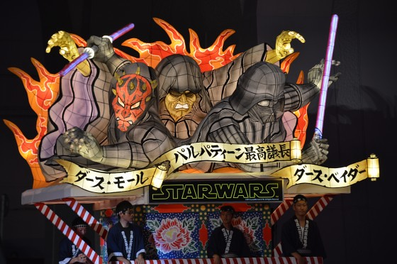Aomori Nebuta Festival Japan - Star Wars Floats Darth Maul & Darth Vader