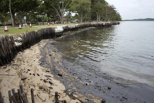 Oil spill in the Johor Strait (5 Jan 2017) from Changi Carpark 4