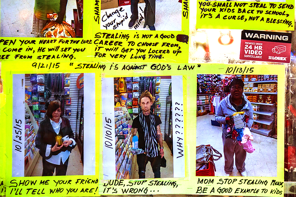 Photos of shoplifters at Dollar store at 12th and Chesnut--Center City (detail)