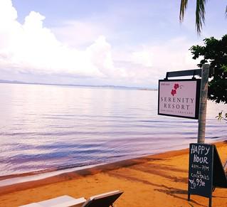 Serenity Resort sign on the Beach3